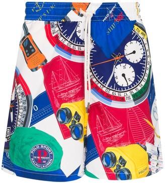 Polo Ralph Lauren Yacht print swim shorts