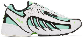 MSGM White and Green Fila Edition Low-Top Sneakers