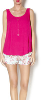 Olivaceous Magenta Tank Top