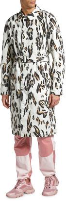 MONCLER GENIUS Men's Jasmund Cheetah-Print Trench Coat