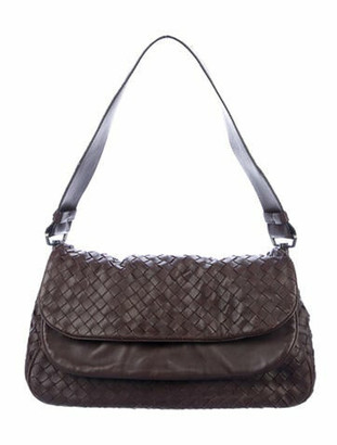 Bottega Veneta Intrecciato Leather Hobo Brown