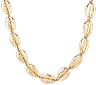 Latelita Cowrie Shell Choker Strand Necklace Gold