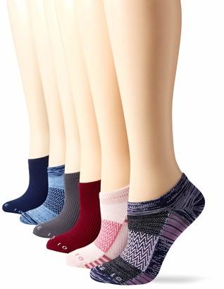 Core 10 Amazon Brand Women's 6-Pack Performance Sport Athletic No Show Socks