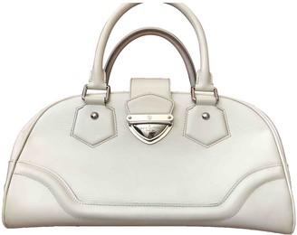 Louis Vuitton Montaigne Vintage Ecru Leather Handbags