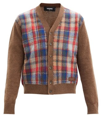 DSQUARED2 Checked Wool Cardigan - Brown