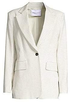 Michelle Waugh Women's The Dixie Check Single-Button Blazer