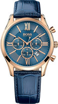HUGO BOSS 1513320 ambassador rose-gold stainless steel watch