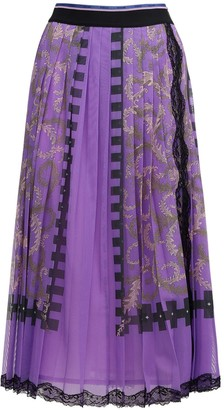 Emilio Pucci Pleated Printed Maxi Skirt