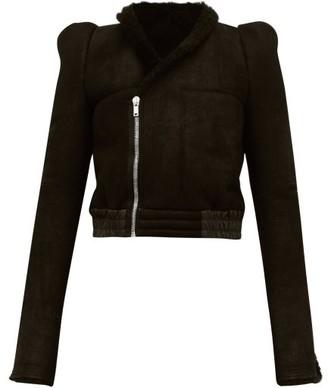 Rick Owens Panelled Shearling Jacket - Womens - Black