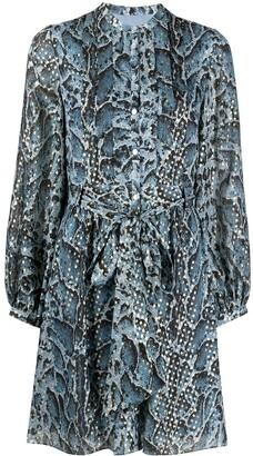 Temperley London Ocelot long-sleeved dress