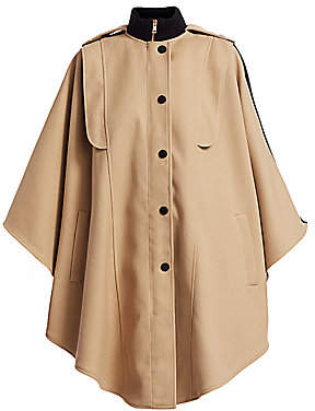 See by Chloe Women's Wool-Blend Cape Trench Coat