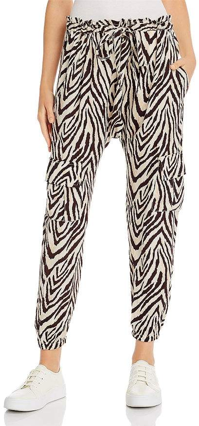 Current/Elliott The Roxwell Zebra Print Cargo Pants