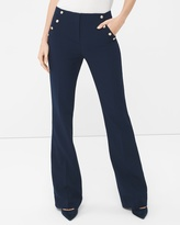 White House Black Market Nautical Slim Flare Pants