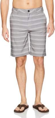 Quiksilver Young Men's Stripe Amphibian 21 Hybrid Short Shorts
