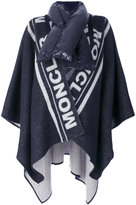 Moncler branded poncho - women - Feather Down/Polyamide/Wool - One Size