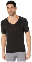 Spanx For Men for Men Zoned Performance Compression V-Neck (Black) Men's Underwear