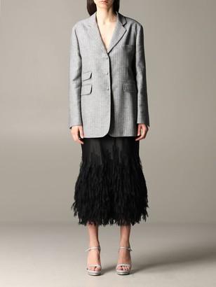 Ermanno Scervino Blazer Slim Jacket In Lurex Pinstripe