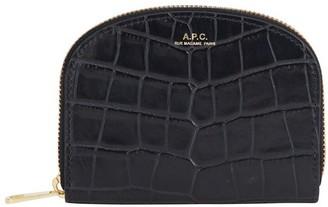 A.P.C. Demi-Lune crocodile purse