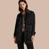 Burberry Check Undercollar Silk Field Jacket