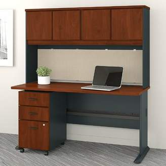 Bush Business Furniture Series A 3 Piece Desk Office Suite Bush Business Furniture Color: Hansen Cherry