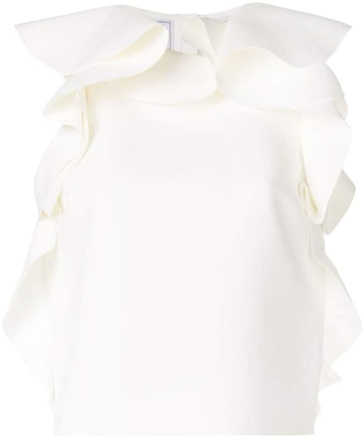 MSGM ruffle trim blouse