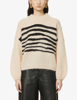 BA&SH Will striped mohair and wool-blend jumper