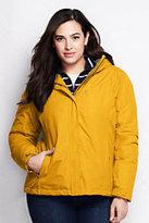Classic Women's Plus Size Hooded Squall Jacket-Khaki