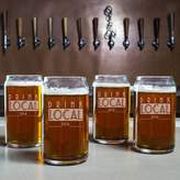 """Cathy's Concepts Cathys concepts Drink Local Brew"""" 4-pc. Beer Can Glass Set"""