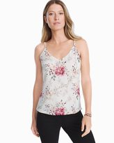 White House Black Market Reversible Floral Print Cami