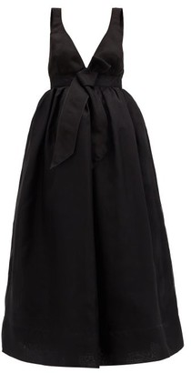 Brock Collection Rella Bow Silk-organza Gown - Black