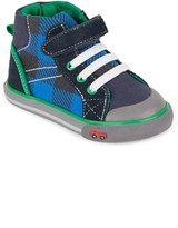 See Kai Run Boy's Dane Plaid High-Top Sneakers