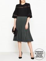 Reiss Rosie Pleated Midi Skirt