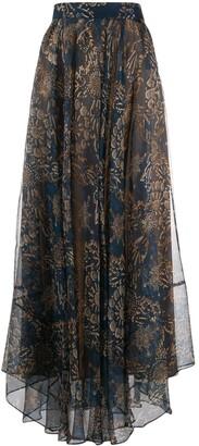 Brunello Cucinelli Floral-Print Maxi Skirt