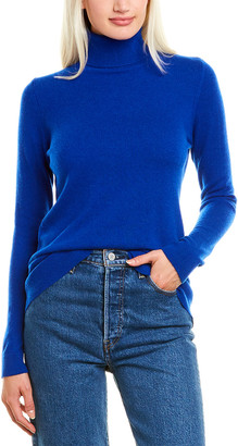 Forte Cashmere Fitted Cashmere Turtleneck
