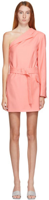 MSGM Pink Single Shoulder Blazer Dress
