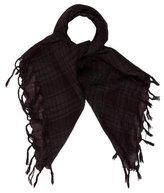 John Varvatos Plaid Wool Scarf
