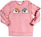 Fendi Monster Jersey Neoprene Sweatshirt