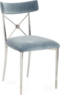 Jonathan Adler Rider Cotton Cross Back Side Chair Upholstery Color: Rialto Sky