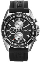 Michael Kors men's stainless steel rubber strap watch