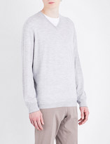 Brunello Cucinelli V-neck wool and cashmere jumper