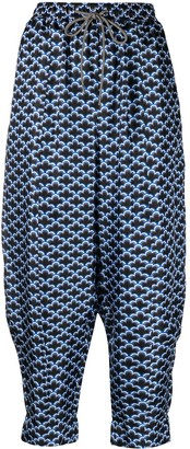Odeeh Scalloped-Print Haram Trousers