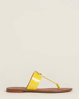 Kate Spade Vibrant Canary Chase Thong Flat Sandals
