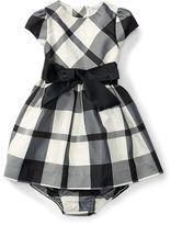 Ralph Lauren Plaid Taffeta Dress & Bloomer