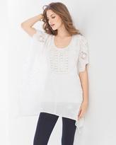 Soma Intimates Woven Crochet Cotton Poncho White