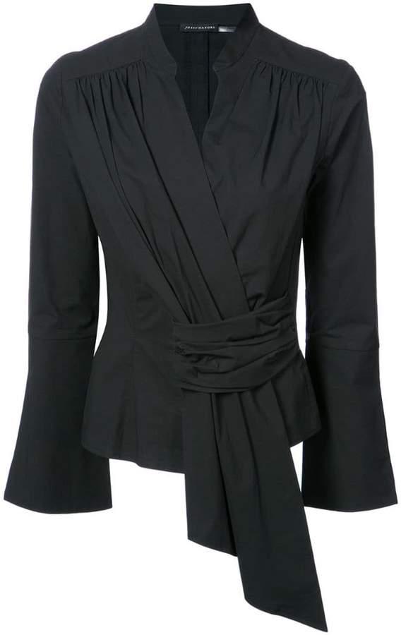 Natori front gathered blouse