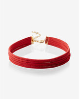 Express slit sueded choker