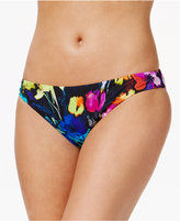 Bar III Painted Posies Floral-Print Cheeky Bikini Bottoms, Only at Macy's