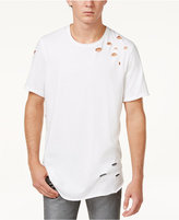 INC International Concepts Men's Long Slashed Cotton T-Shirt, Only at Macy's