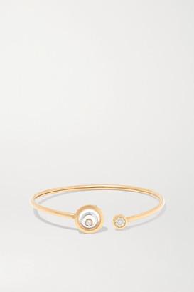 Chopard Happy Spirit 18-karat Rose And White Gold Diamond Cuff - Rose gold