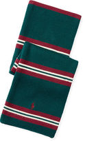 Ralph Lauren Striped Combed Cotton Scarf